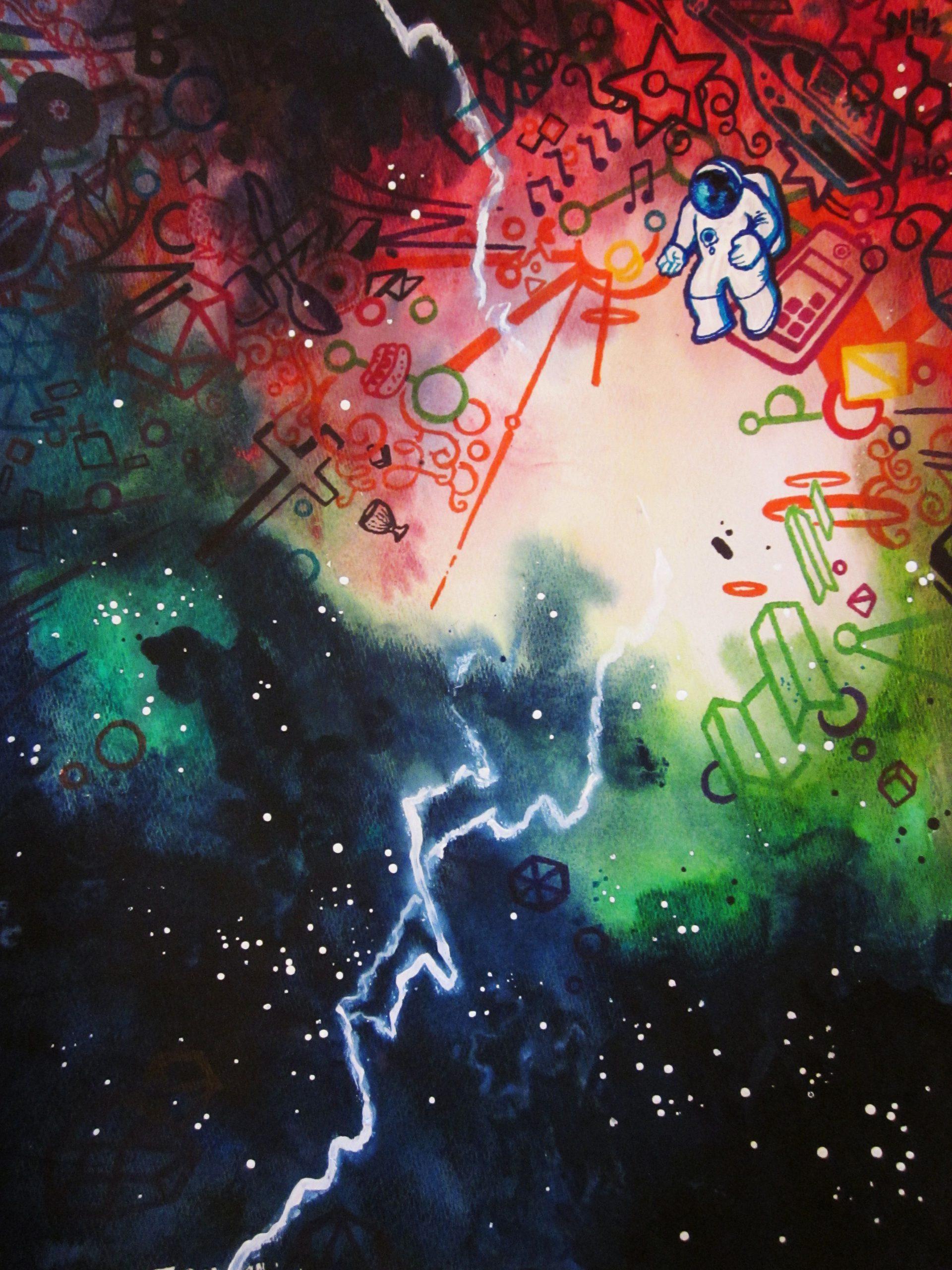 Erik Reichenbach comic prints space astronaut watercolor comics