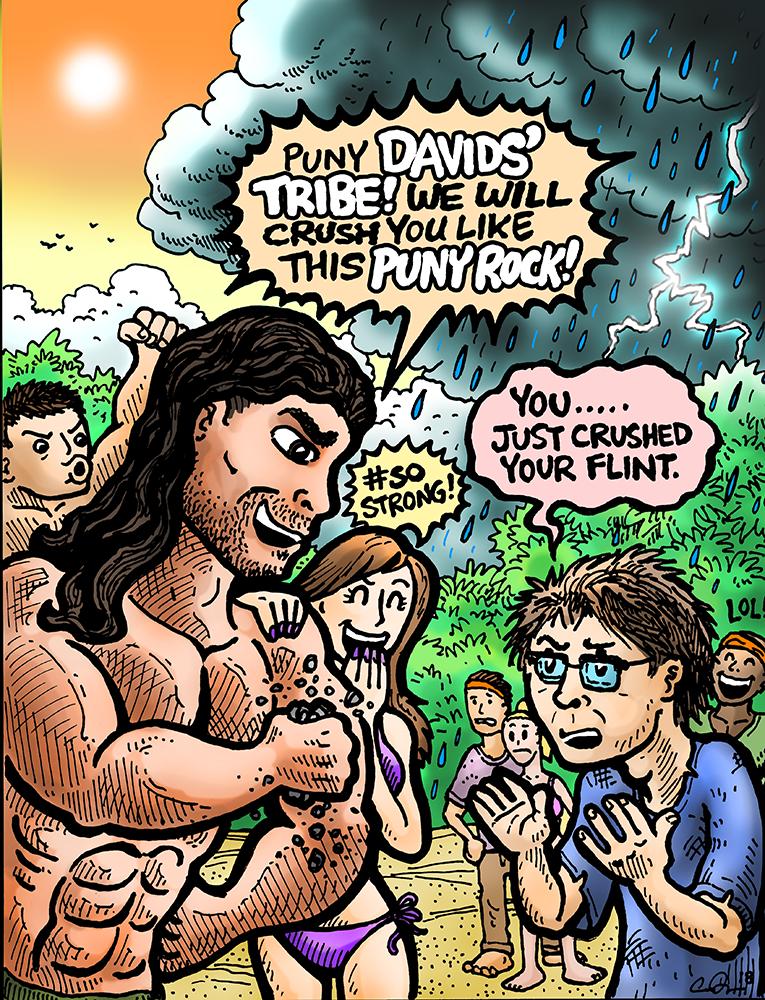 erik reichenbach survivor s37 comic david vs. goliath