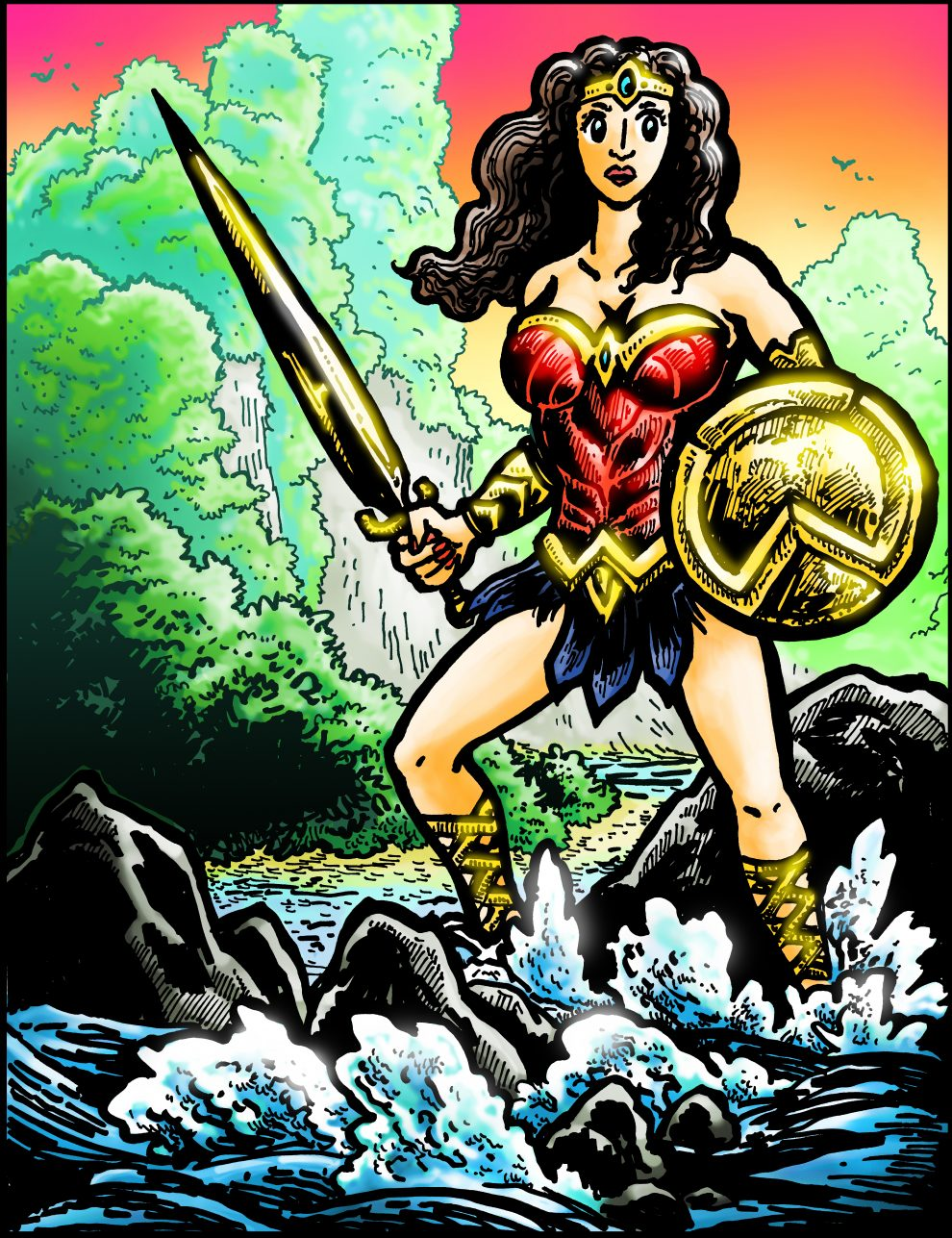Dabu Doodles : Wonder Woman in Fiji, Survivor Comic by Erik Reichenbach