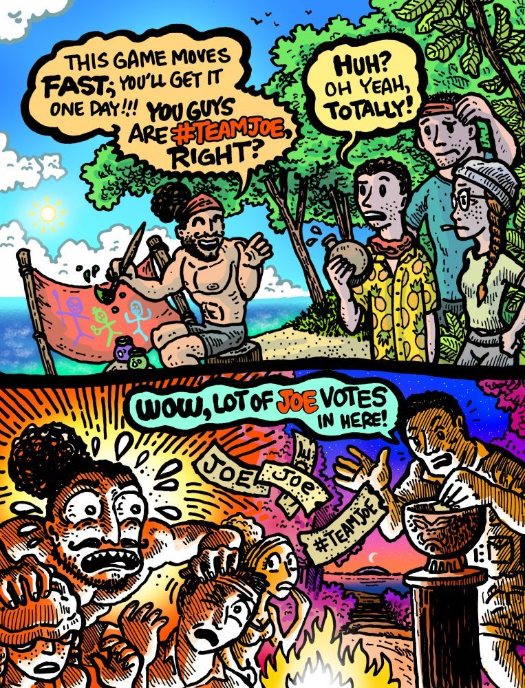 Dabu Doodles by Erik Reichenbach: Survivor Edge of Extinction Ep. 7 #TeamJoe