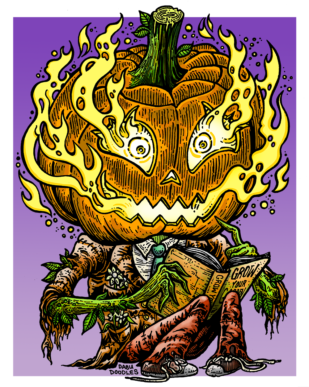 Dabu Doodles by Erik Reichenbach: Pumpkinhead Emoji Character