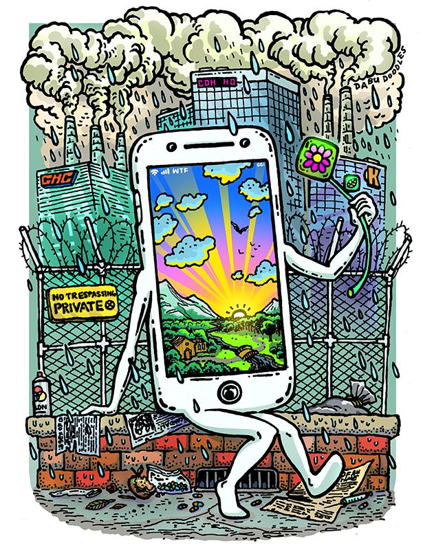 Dabu Doodles by Erik Reichenbach: Mobile Phone Emoji Character