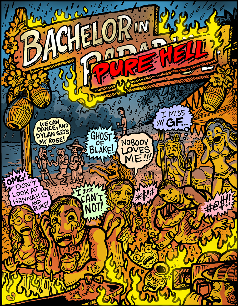 Bachelor In Paradise comics - Dabu Doodles