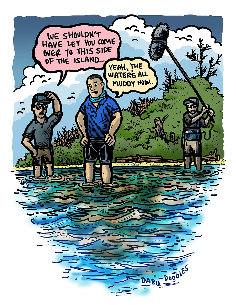 Dabu Doodles by Erik Reichenbach: Survivor Island of the Idols