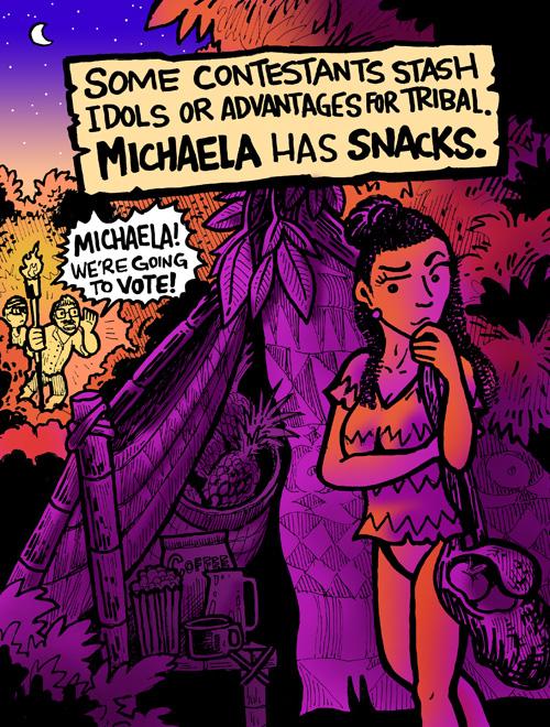 Survivor Michaela Dabu Doodles