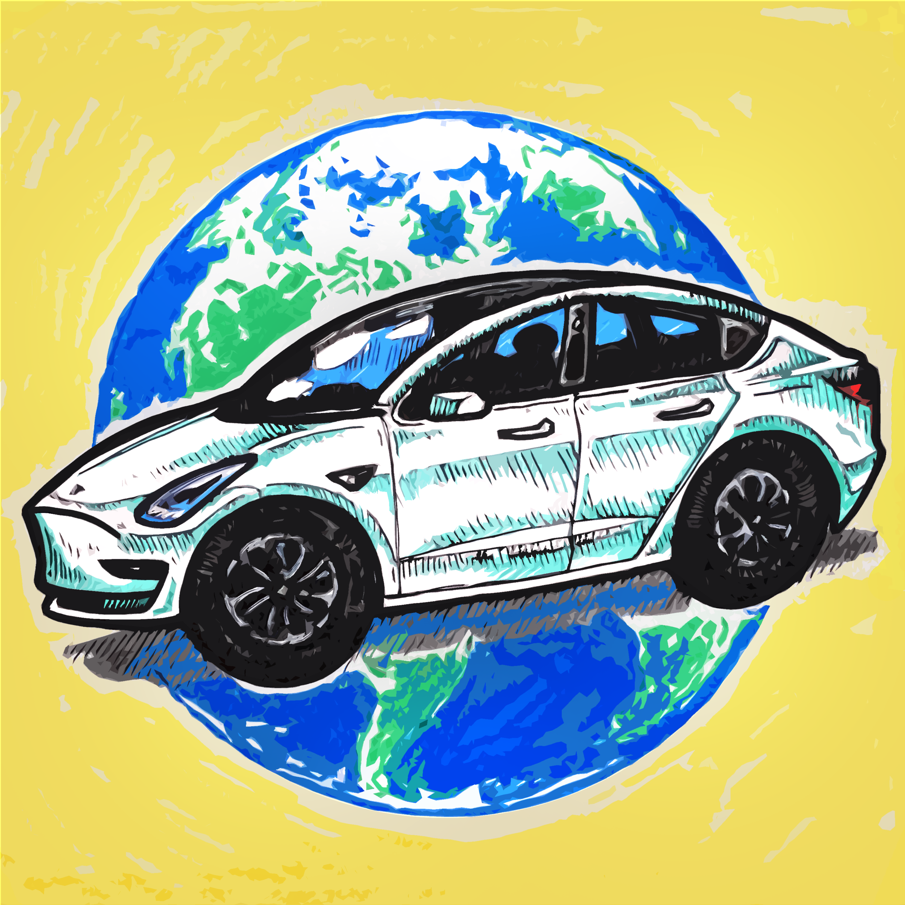 Tesla Model 3 Comic