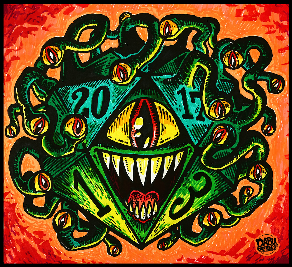 dungeons and dragons d20 beholder